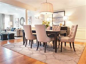 Impressive, Surya, Rugs, In, Dining, Room, Transitional, With, Living, Dining, Combo, Next, To, Parsons, Table