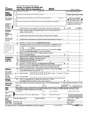 search results for 2014 1040ez printable tax form pdf