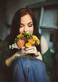Women Face Images with Flowers