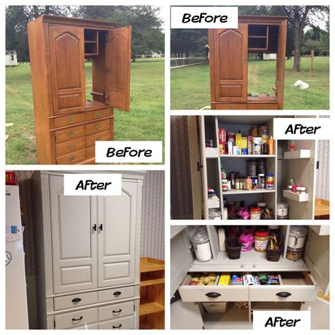 Food Pantry Furniture Tv Armoire Turned Food Pantry Furniture In 2019