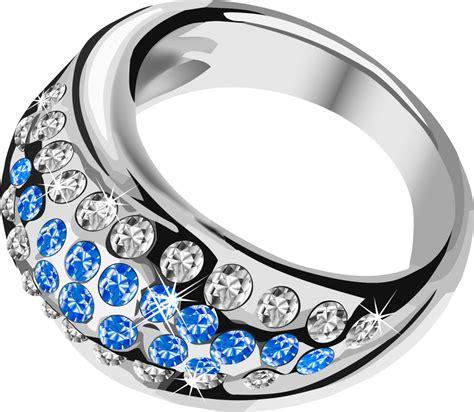 silver ring  blue diamond png image purepng