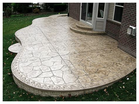 sted concrete patios large patio with flag