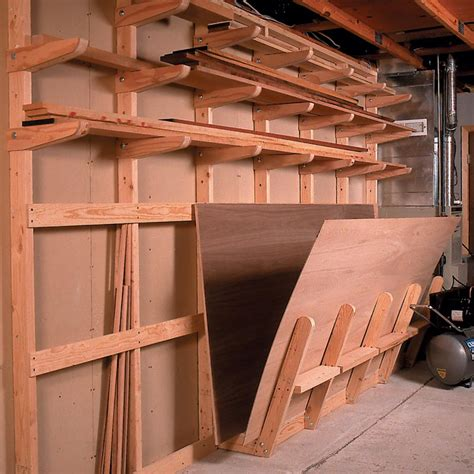 lumber storage rack woodworking plan  wood magazine