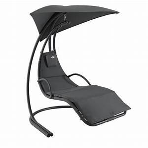 Fauteuil Suspendu Noir : fauteuil suspendu majorque anthracite balancelle eminza ~ Teatrodelosmanantiales.com Idées de Décoration