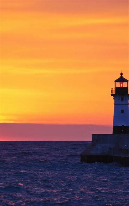 Desktop Duluth Lighthouse Tablet Wallpapers Wallpapersafari Phone