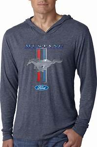 Buy Cool Shirts Ford Mustang T-shirt Stripe Lightweight Hoodie | eBay