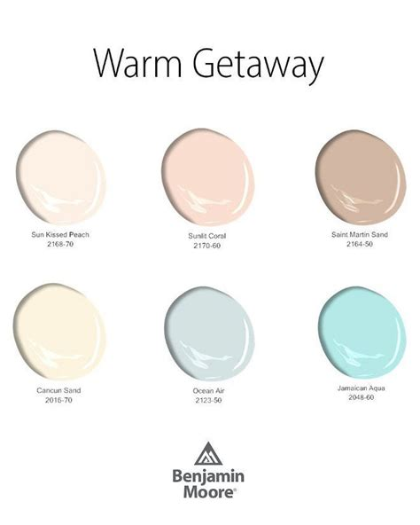 benjamin moore color palette summery paint colors by