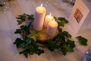 Centre De Table Mariage : d co de tables mariage centre de table lierre bougies ~ Melissatoandfro.com Idées de Décoration
