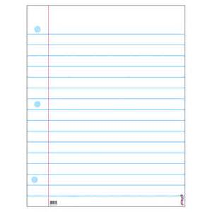 Free Printable Lined Notebook Paper Template