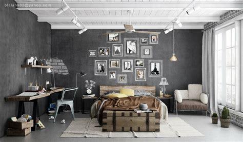 industrial bedrooms interior design home design
