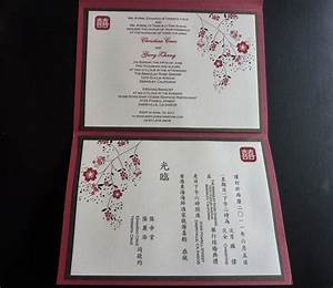 inside of invitation english on one side chinese on the With wedding invitation card printing hong kong
