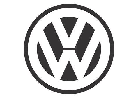 volkswagen logo black and white volkswagen black white mode logo vector format cdr ai