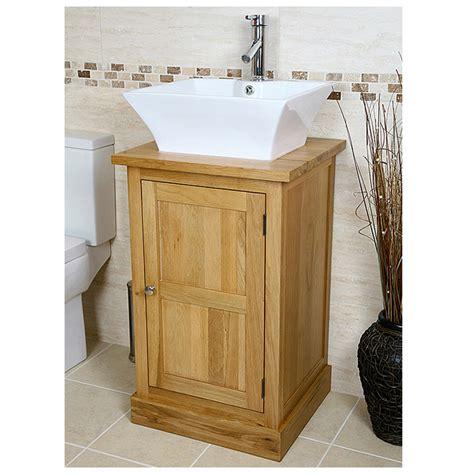 vanity unit basin sink 50 off solid oak vanity unit with basin sink 500mm bathroom inspire