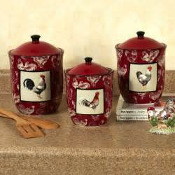 Country Kitchen Canister Set Country Rooster Kitchen Canister Set Colorful Rustic Rooster Kitchen Rooster