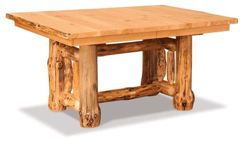 rustic dining room tables with leaves cedar log dining room table 9264
