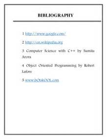 Science Fair Project Bibliography Example