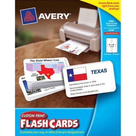Avery 04760 Printable Flash Cards 2 1 2 X 4 White 8 Custom Print Flash Card Walmart