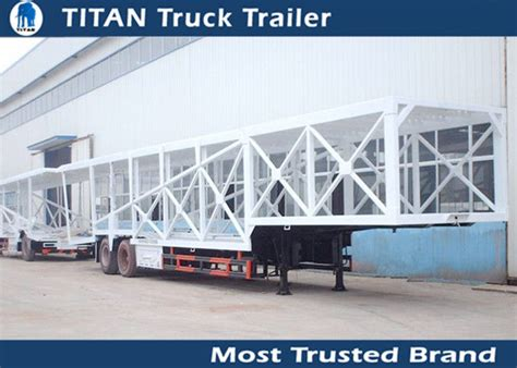 Customized 2 Axle 7 Car Hauler Trailer Frame / Enclosed