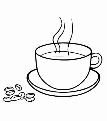 Coloring Coffee Starbucks Beans Drinks Printable Cups