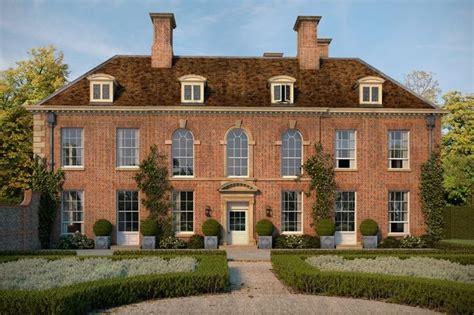 georgian manor house homes  english styles