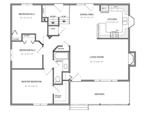 sq ft bungalow house plan  canada