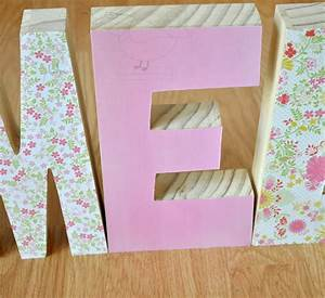 decorative wooden letters perfect gift for new baby the With baby name wooden letters