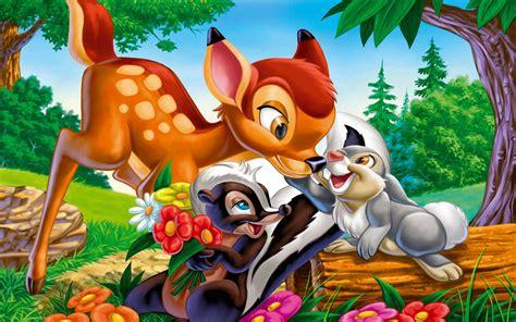bambi thumper  flower cartoons character  disneys