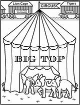 Circus Tent Pages Coloring Printable Popcorn Colouring Printables Getcolorings Popular Coloringhome Getcoloringpages Library Clipart Camping sketch template
