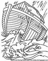 Coloring Flood Designlooter Ark Noahs Storm Bible Sheets sketch template