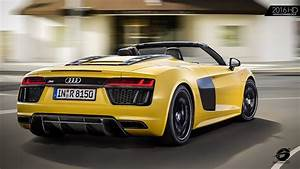 Yellow 2017 Audi R8 Spyder V10 | EXHAUST SOUND ...