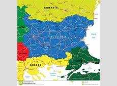 Bulgaria Map Stock Photography Image 34864062
