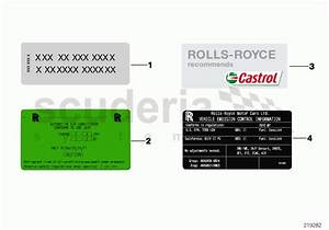 Rolls Royce Ghost Labels Parts
