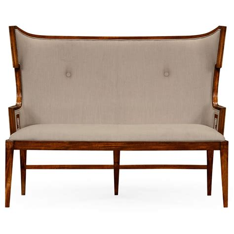 Bench Settee Furniture by Upholstered Dining Bench Settee Swanky Interiors