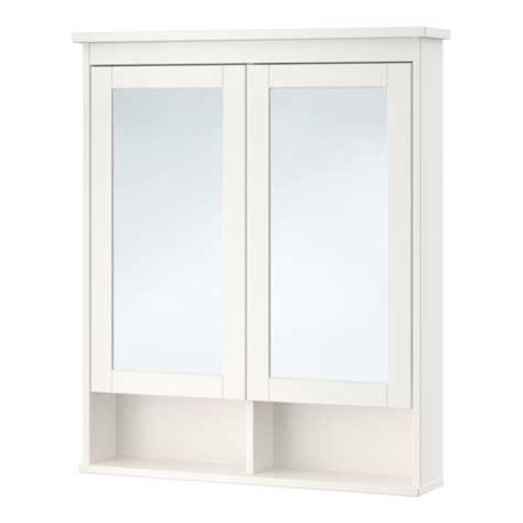 hemnes mirror cabinet with 2 doors white 32 5 8x6 1