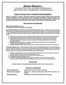 program manager resume example With executive resume writing software