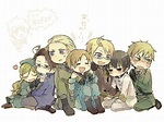 hetalia~ Look how cuddly Hungary is with Austria! :3 so ...