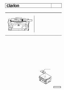 Service Manual For Clarion 28185 Cl70a