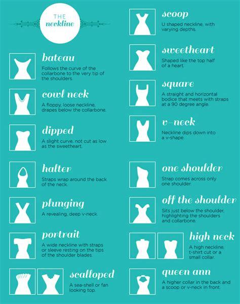 wedding dress necklines styles names fashion terms