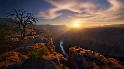 Canyon Grand Landscape Sun National Arizona Adamus