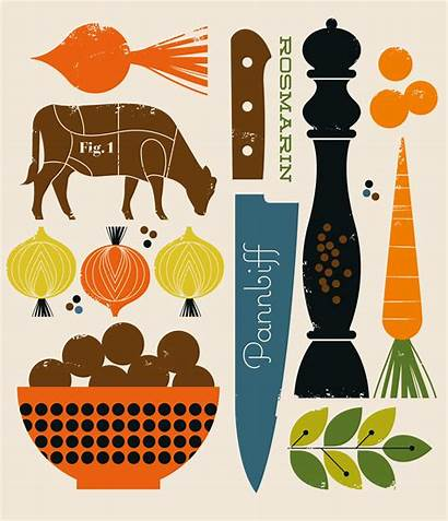 Graphic Cookbook Illustrations Behance Bo Lundberg