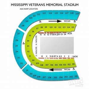 Mississippi Veterans Memorial Stadium Seating Chart ...