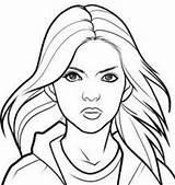 Coloring Portrait Getdrawings sketch template