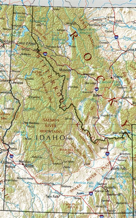 Idaho Geography and Maps