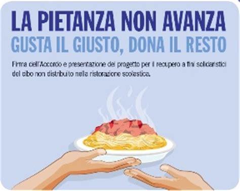 slogan sull alimentazione recupero eccedenze dalla ristorazione scolastica quot la