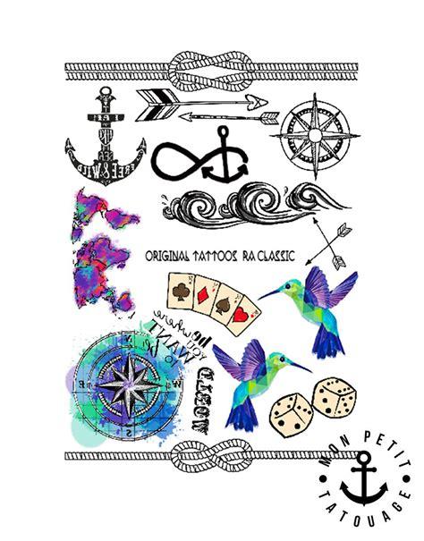 Boussole Carte Tatouage