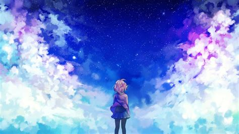 wallpaper sunlight anime sky clouds
