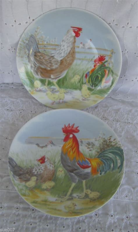 Decorative Chicken Plates - 1000 images about rooster plates on set of