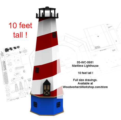 If you do not have the proper information, instruction, and skill, you may land up spending more money and time than you originally intended to. Maritime Lighthouse 10 ft tall Full Size Woodworking Plans. - WoodworkersWorkshop