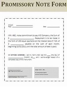 promissory note template word out of darkness With loan note document
