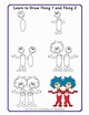 """Learn To Draw Dr. Seuss Characters """"Thing 1 and Thing 2 ..."""